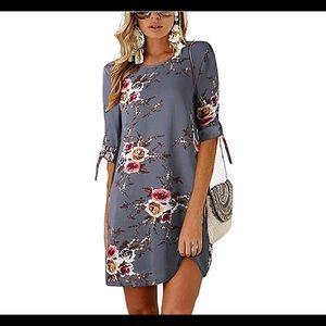 🆕Summer Round Neck Printed Casual Mini Dress
